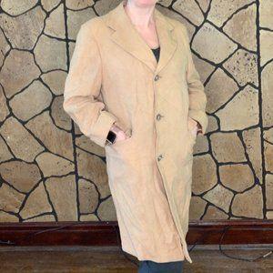 Vintage 100% Pure Cashmere Tan Full Length Coat